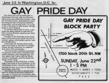 Pride Day Article from the 1975 edition of the Washington Blade