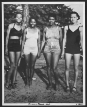 Women at Carrs Beach Maryland. Joseph Owen Curtis Photograph Collection. c.1939. DigDC
