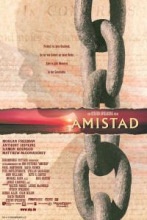 This shows the poster for the film Amistad.