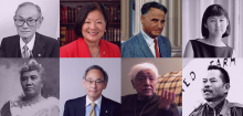 Collage of eight prominent Asian American and Pacific Islander figures