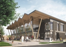 Architectural rendering showing the new Southwest Library