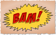 BAM - comic book sound effect graphic
