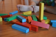 blocks and baby toes