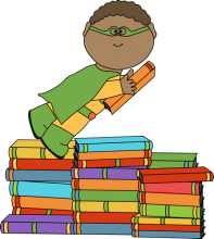 Boy superhero and books!