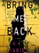 Bring Me Back book cover