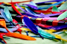 picture of feathers and beads