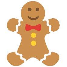 Picture of a gingerbread man