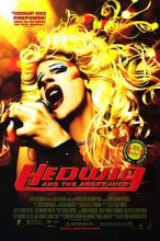 Film poster for Hedwig and the Angry Inch, showing the title character