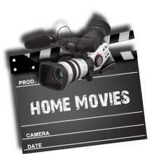 camera and home movie sign