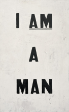 "The historic ""I Am A Man"" picket sign."