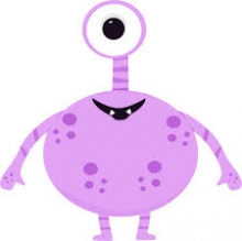 Clipart Picture of Monster