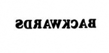 Image of a Phrase Written Backwards