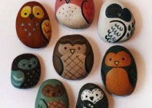 Picture of painted rocks