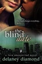 "book cover for ""the blind date"" by delaney diamond."