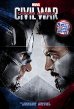 "book cover for ""Captain America : civil war : the junior novelization"" adapted by Chris Wyatt."