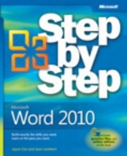"Book cover for ""Microsoft Word 2010 : step by step"" by Joyce Cox and Joan Lambert."