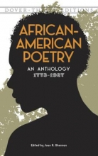 "Book cover for ""African-American poetry : an anthology, 1773-1927"" edited by Joan R. Sherman."