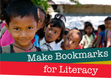 Make bookmarks for literacy