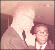 Photo of Malcolm X and Peter Bailey