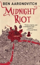 Cover of Midnight Riot by Ben Aaronovitch shows a map of London with parts outlined in red
