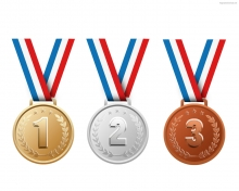 Gold,Silver, and Bronze Medals