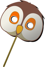 Clip art of an owl mask