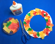 picture of paper plate wreath