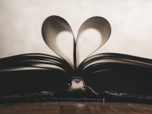 Book with pages shaped like a heart
