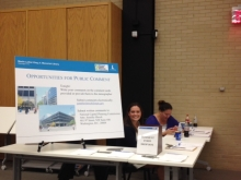 NCPC Scoping Meeting Sign-In Table
