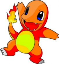 'Charmander' is a red and orange lizard-like creature