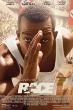 Film poster for Race, showing Stephan James as Jesse Owens