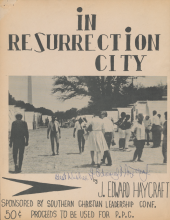 In Resurrection City songbook by J. Edward Haycraft, signed