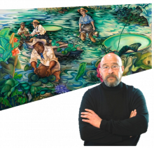 Artist Rik Freeman will discuss his mural entitled Knowledged.