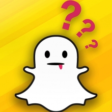 snapchat logo with question marks
