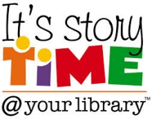 It's story time @ your library logo