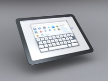 Photograph of a digital tablet