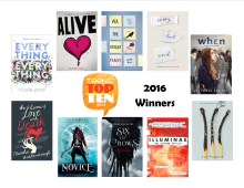Images of the covers of the Teens Top Ten 2016 winners