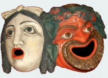 Theater masks from Pompeii