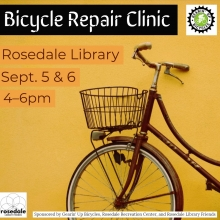 Bike Clinic at Rosedale Library