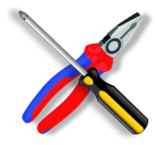 pliers and screwdriver