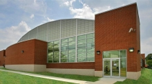 The outside of the Turkey Thicket Recreation Center, from DP + Partners' website, the architectural firm that designed the building