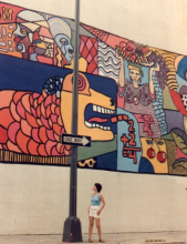 """Unity,"" an Adams Morgan mural painted in 1982.  Photo courtesy of Ligia Williams."