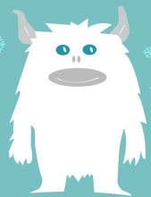 Yeti mascot for Tenleytown Winterfest