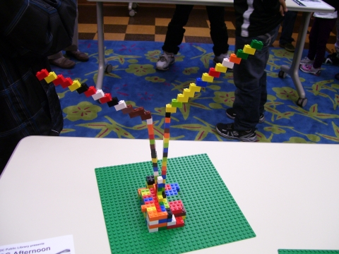 Picture of a Lego Wars creation: Stairs down into the Monster's house.
