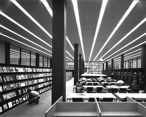 First Floor Reading Room Circa 1972