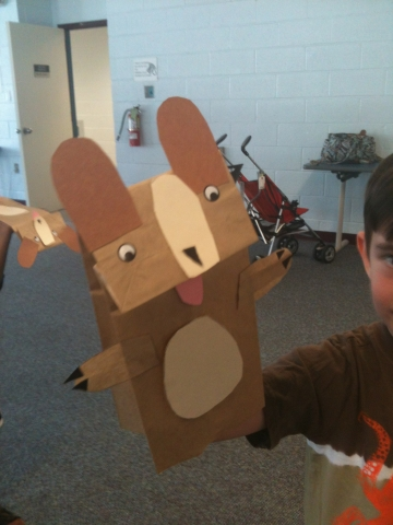 Paper bag Puppy Puppet