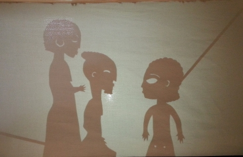 A preview of the shadow puppet show