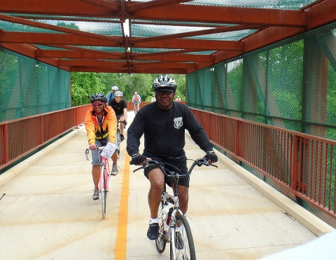 Riding on the Anacostia Riverfront Trail