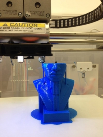 Photo of 3D print of MLK bust