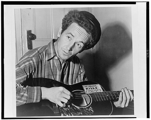 Woody Guthrie image from Library of Congress LC-USZ62-130859